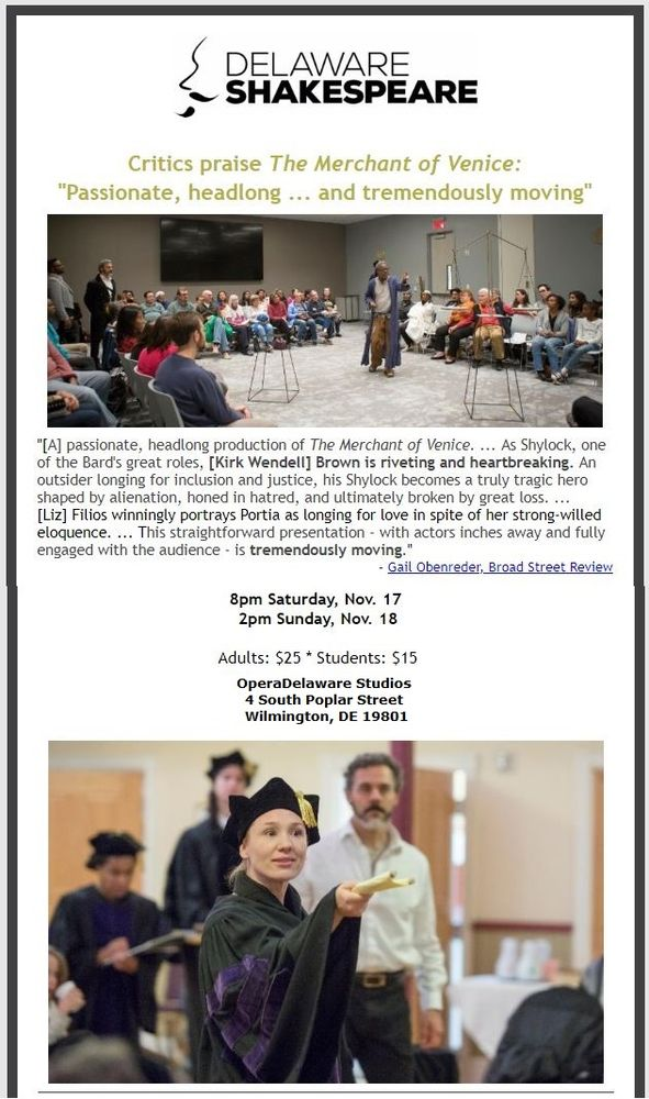 Delaware Shakespeare Festival: 4651 Washington St Extension, Wilmington, DE