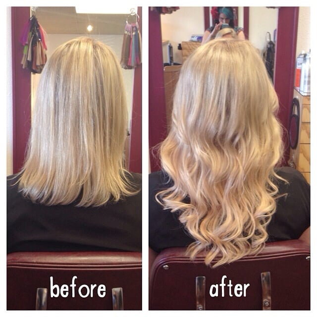 Before And After 4 Bundles Of 16 Keratin Fusion Hair Extensions Yelp