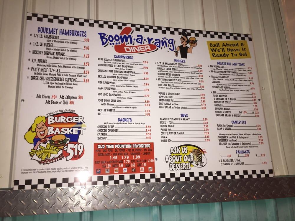 Boomarang Diner: 1511 S Lee St, Fort Gibson, OK