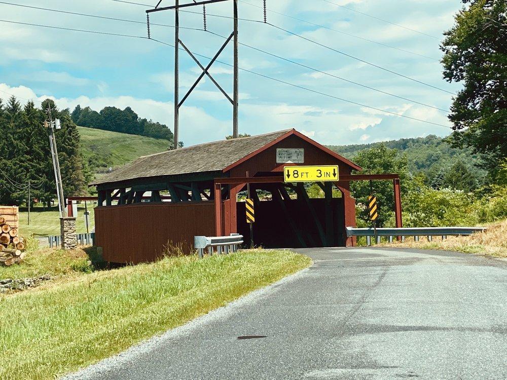 Buttonwood Covered Bridge: 2-330 Covered Bridge Rd, Liberty, PA
