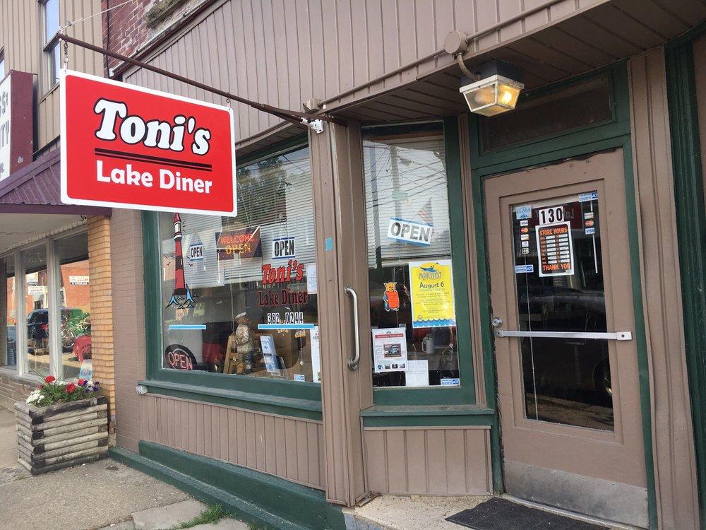 toni's lake diner: 130 Water St, Conneaut Lake, PA