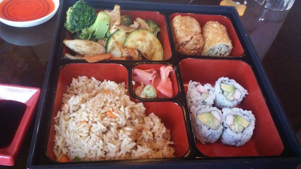 Bento Box W Hibachi Chicken California Roll Sushi Fried