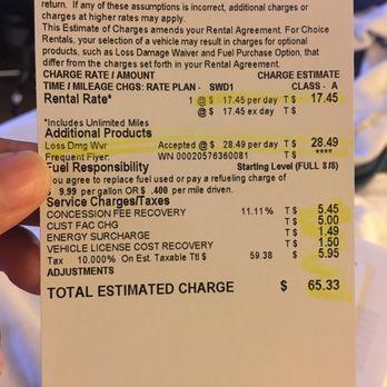 Rental Car Airport Concession Fee