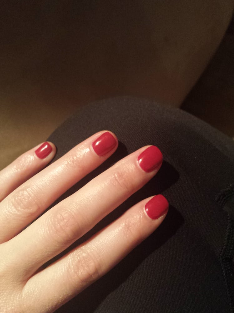 Gel nail polish after four days. Still perfect! - Yelp