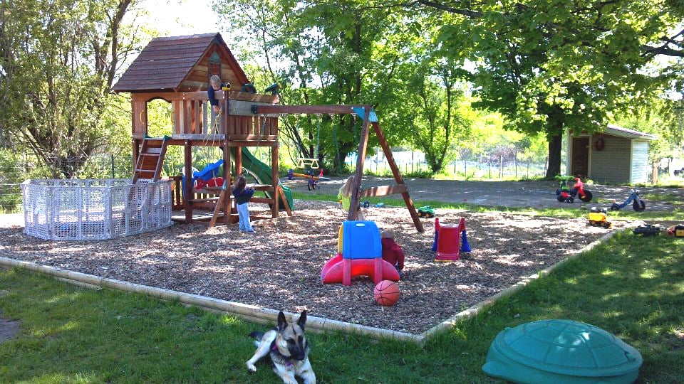 The Outdoor Play Area For The Kids 1 Acre Fenced In Yelp