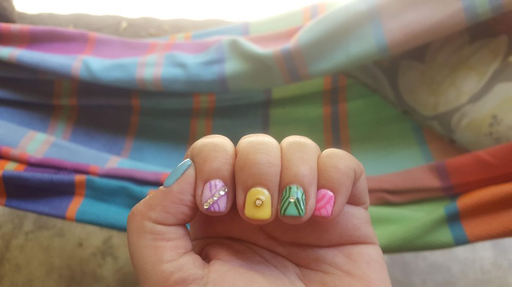 Fancy summer nails! - Yelp