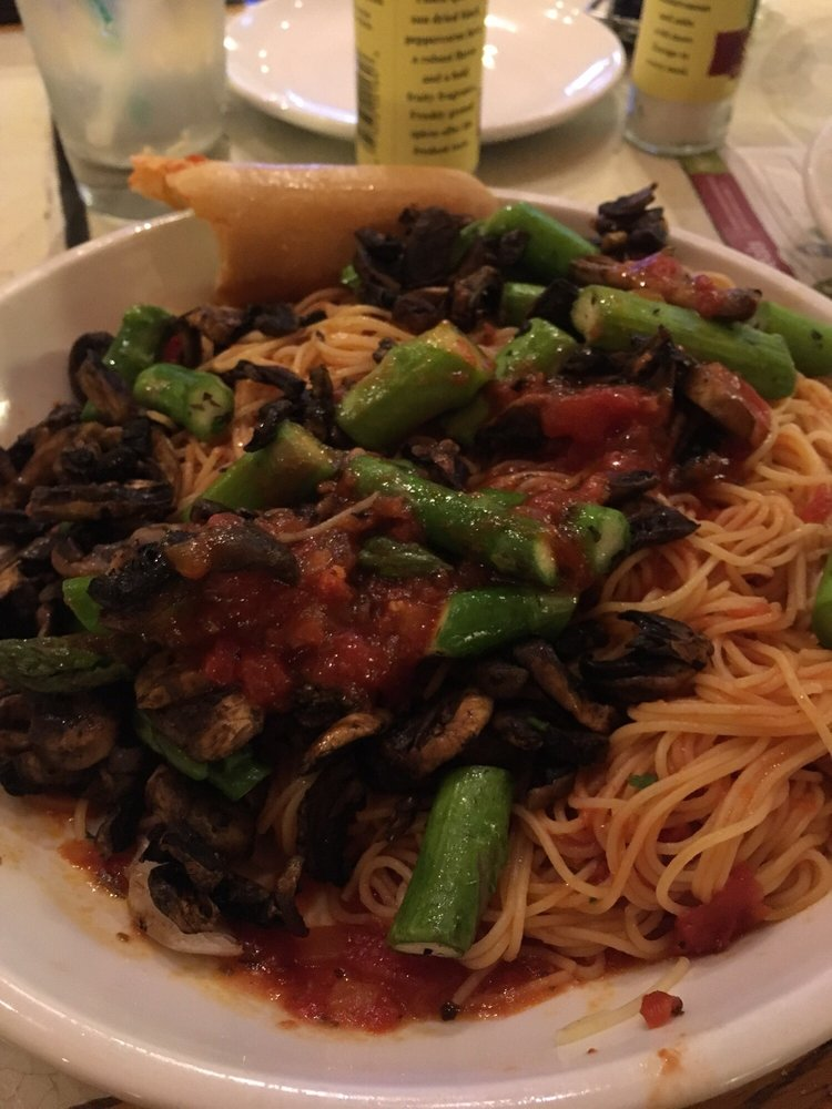Angel Hair Pasta With Marinara And Mushroom And Asparagus Vegan Yelp
