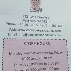 Cake Decorating Store In West Allis Wi : Cook s Cake Decorating & Candy Supplies - 10 Beitrage - Desserts - 7321 W Greenfield Ave, West ...