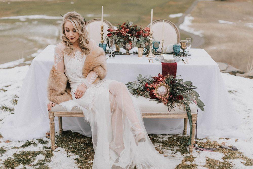 Photo Of Kayla Cook Events Seattle Wa United States Styled Winter Wedding