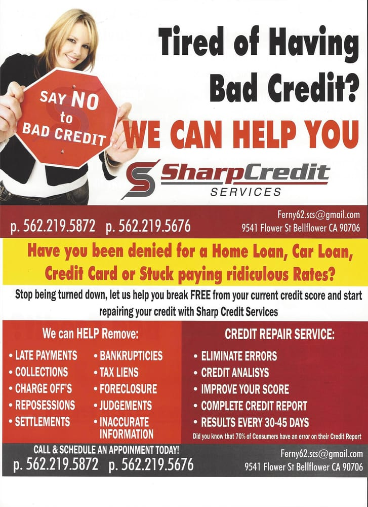 Sharp Credit Services: 9541 Flower St, Bellflower, CA