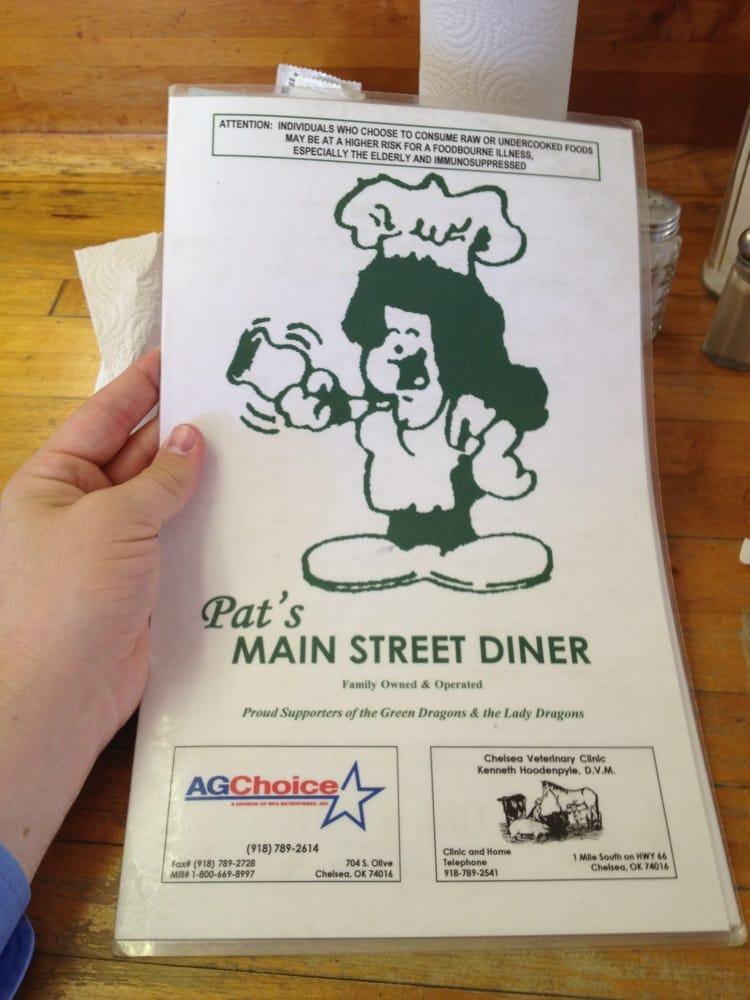 Main Street Diner: 251 W 6th St, Chelsea, OK