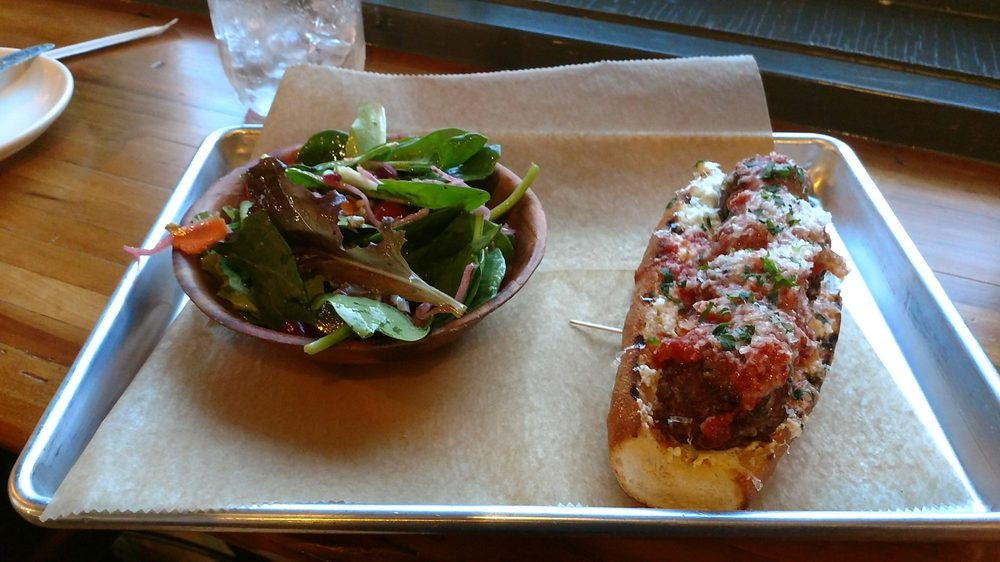 Meatball Sub And A Salad To Make Me Feel Good About