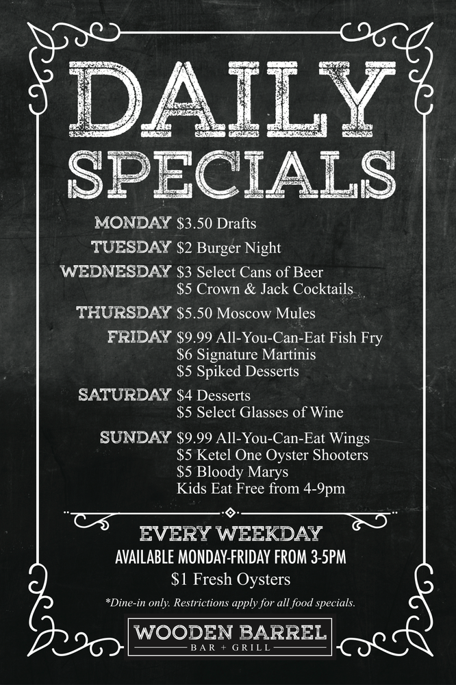 Awesome Daily Specials 1 Oysters Monday Friday 300 500 Yelp