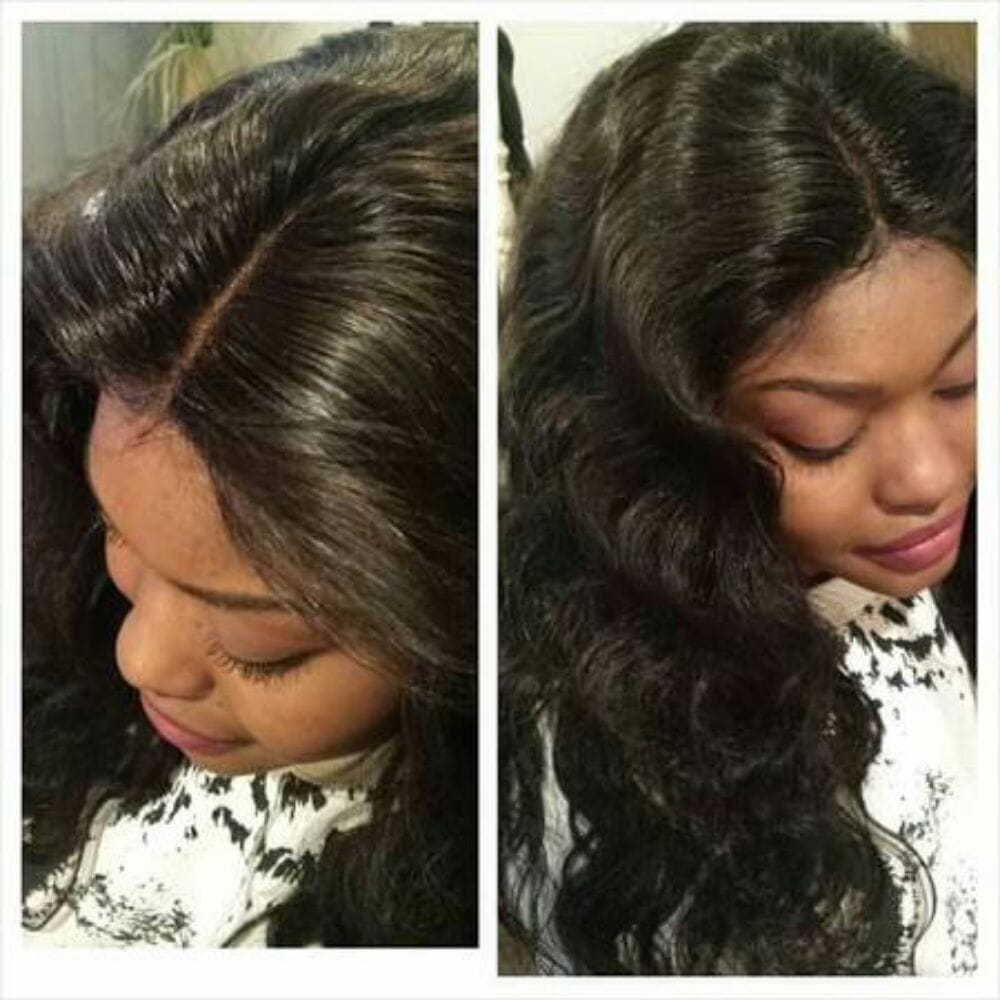 We do vixen sew in lace frontals cl no glue or beaded weaves photo of meshie hair weaving braids salon pomona ca united states pmusecretfo Image collections