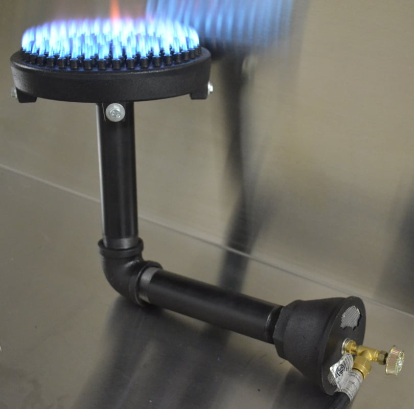 Lpcast8 2 8 Quot Diameter Burner With Gas Inlet At Bottom Of