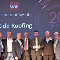 Photo Of Kidd Roofing Austin Tx United States Gaf One Roof Award