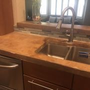 Before And Photo Of Custom Granite Masters   Las Vegas, NV, United States.  Faux Concrete
