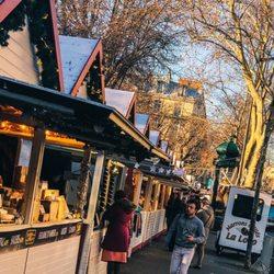 Paris Weihnachtsmarkt.Marché De Noël Weihnachtsmarkt Boulevard Saint Germain Saint