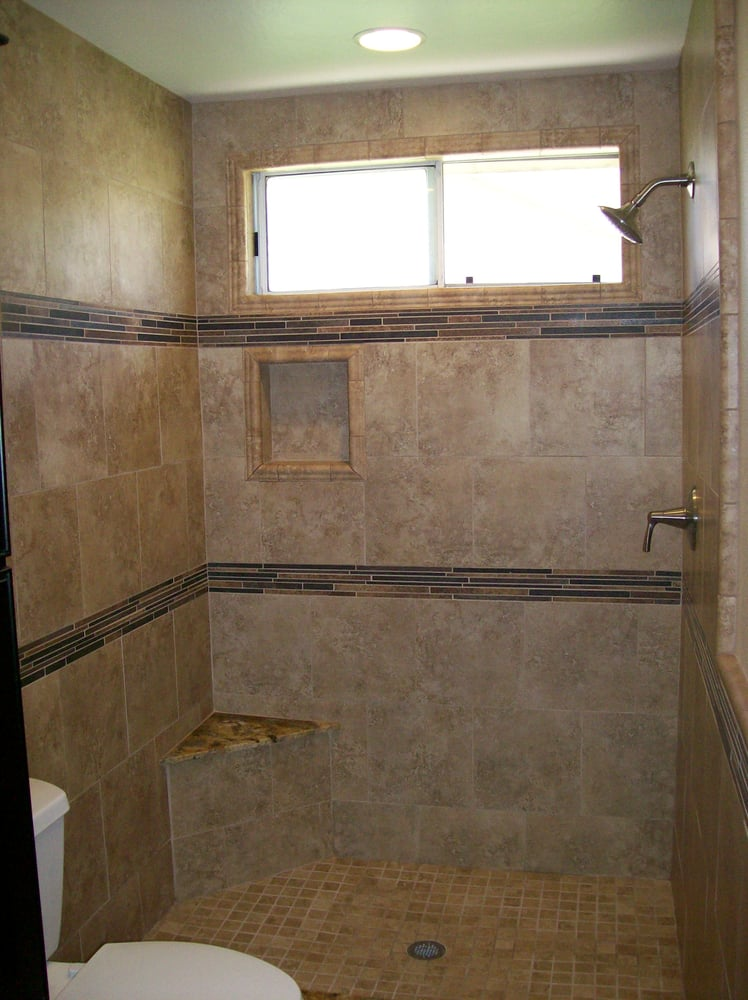 3 X5 Shower Enclosure With Corner Bench And Two