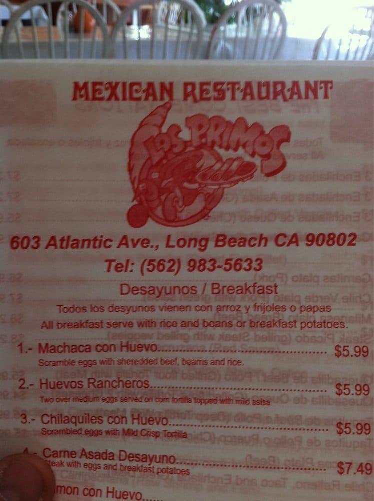 Los primos seafood 603 atlantic ave long beach ca for Atlantic fish menu