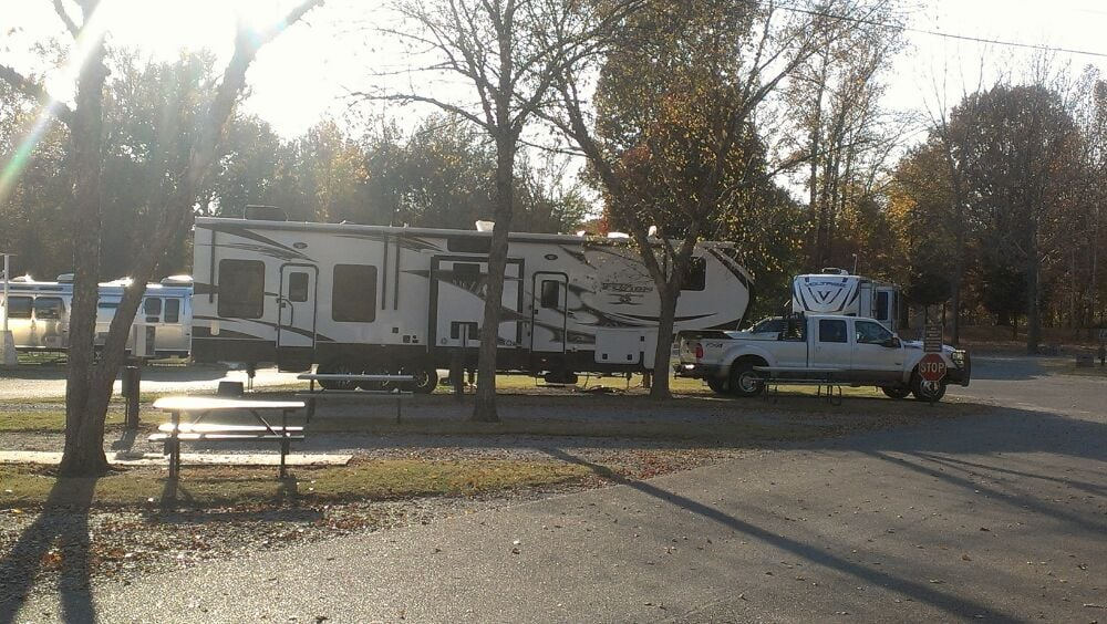 My new fusion toyhauler and f 450 at graceland rv yelp for Motels near graceland memphis tn