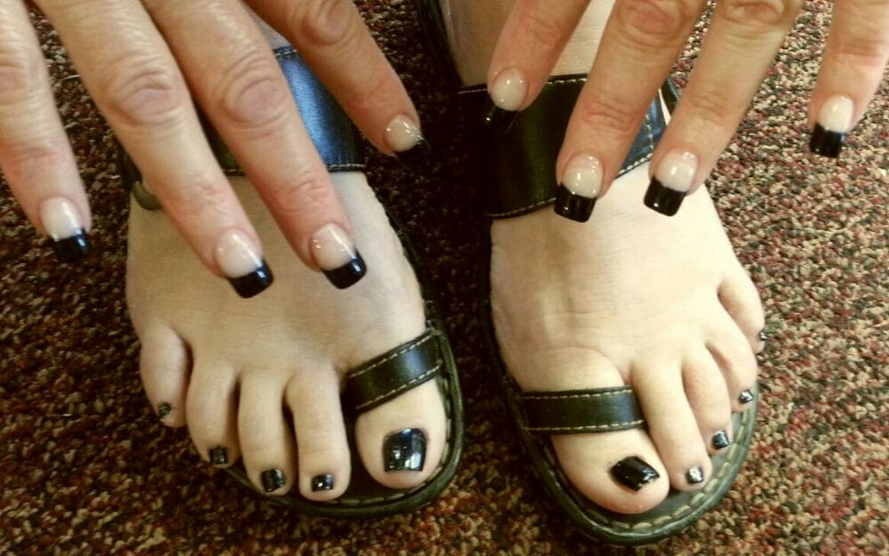 French black tip and matching toes !!! @_@ .... - Yelp