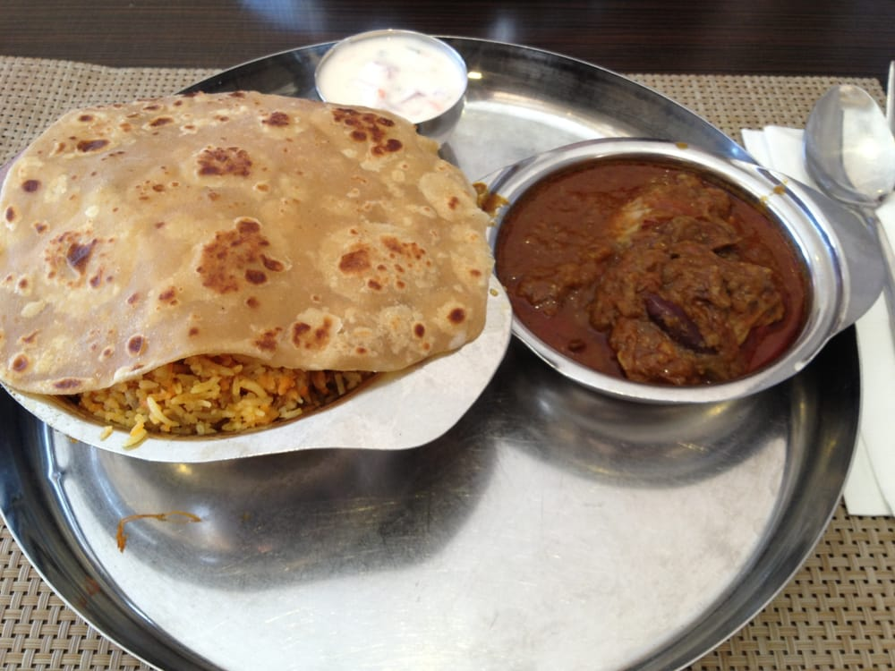 Mutton biriyani meal yelp for Anjappar chettinad south indian cuisine