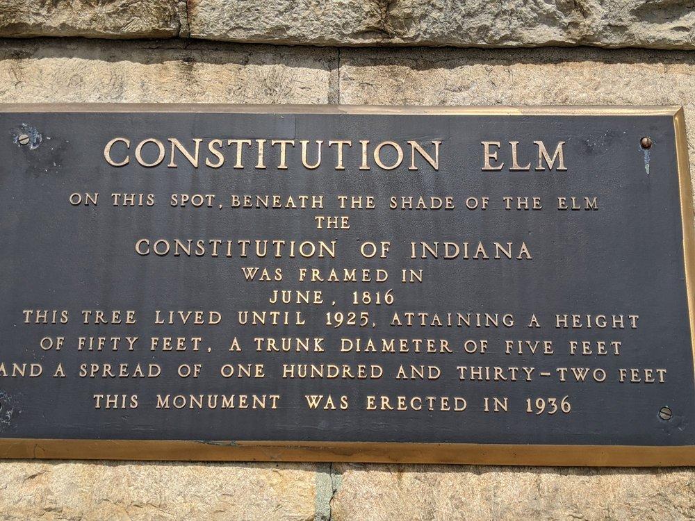 Constitutional Elm Stump: 200 W High St, Corydon, IN