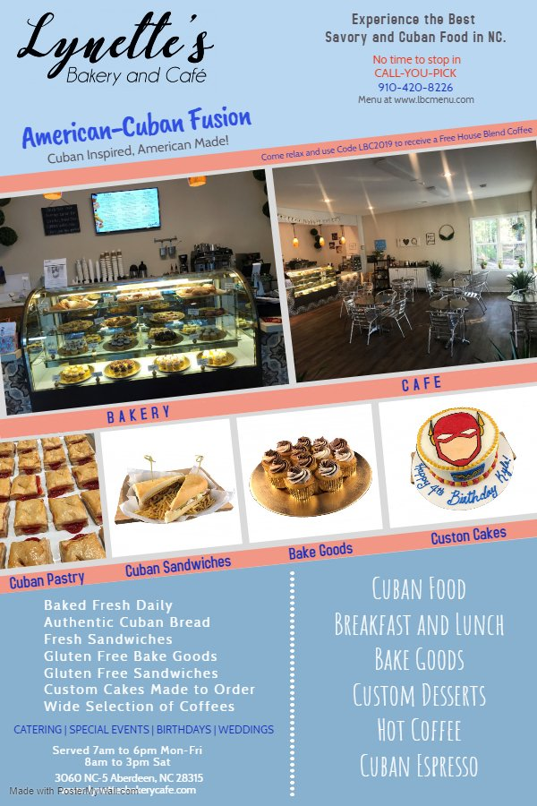 Lynette's Bakery and Cafe: 3060 NC-5, Aberdeen, NC