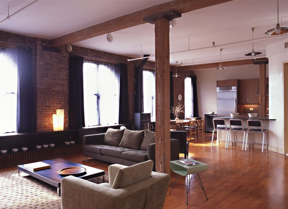 New york city gut renovated loft apartment interior design yelp for Loft apartment interior design