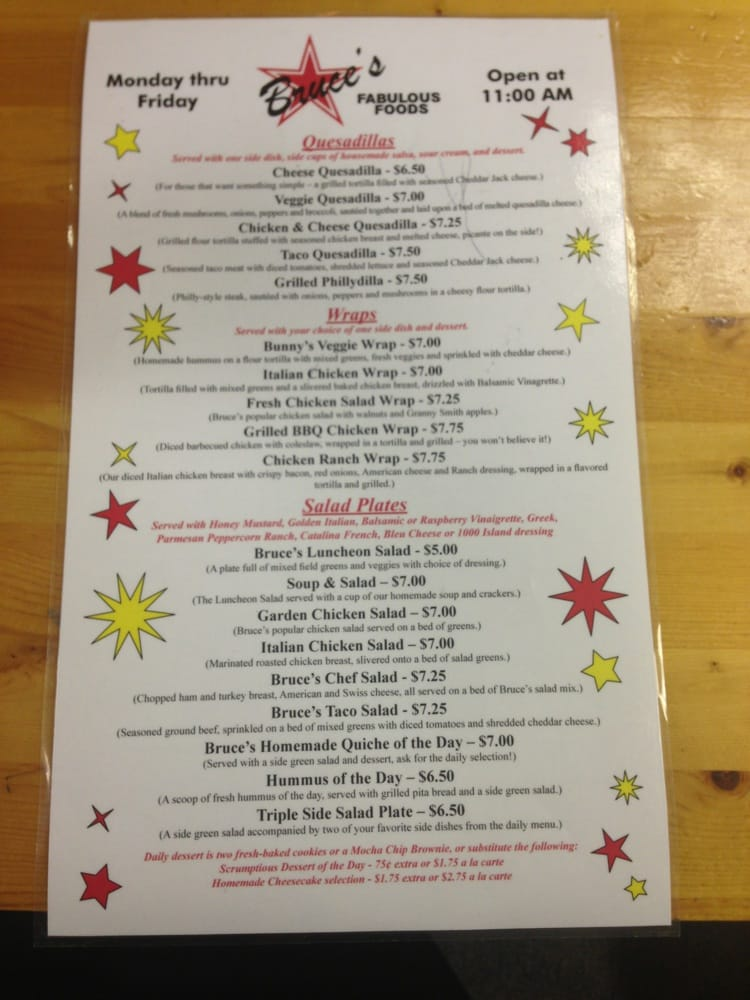 Side 2 Of Menu Yelp