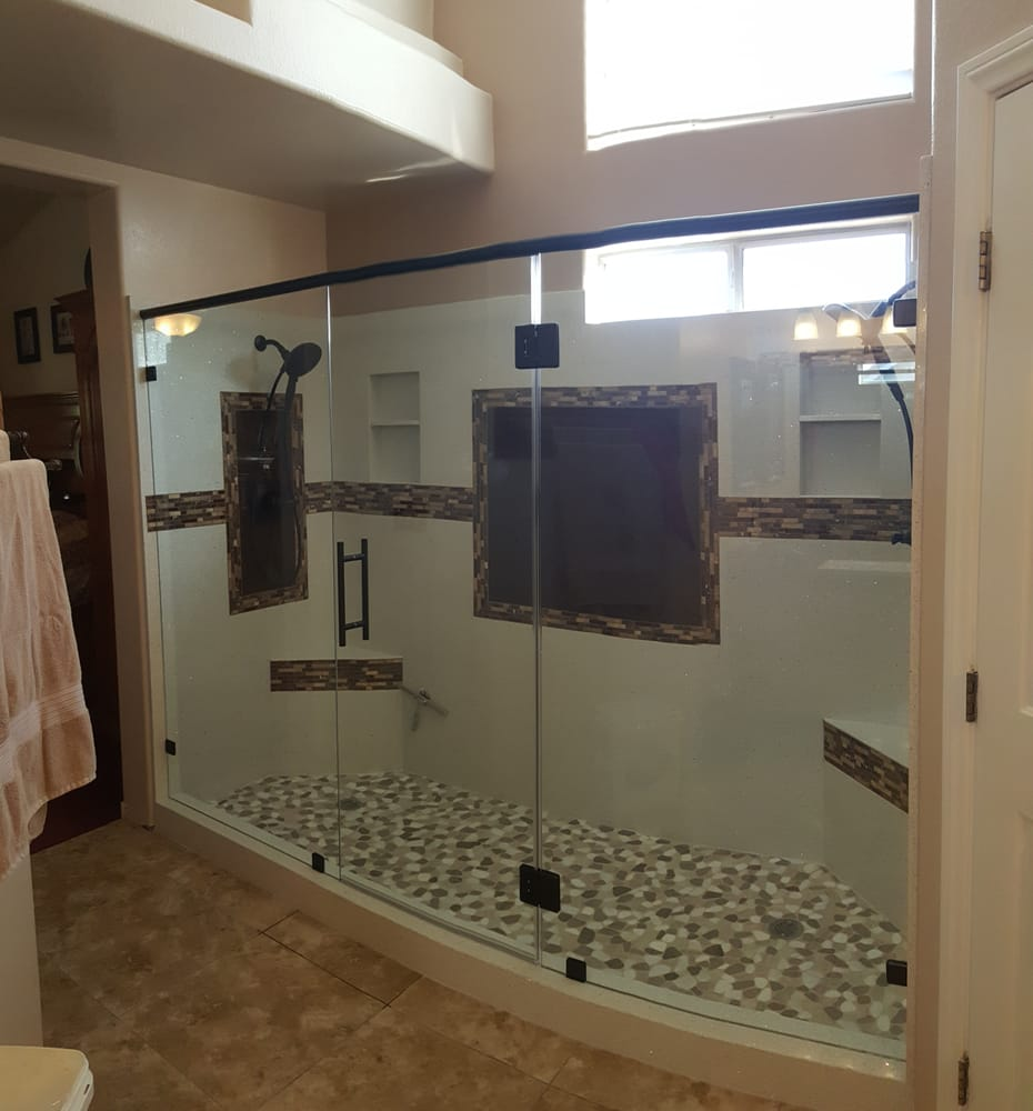 9 foot shower with double shower heads - Yelp