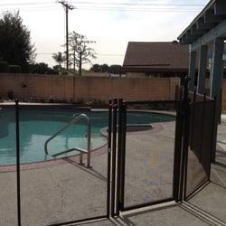 photo of life saver removable pool fence of san bernardino chino hills ca