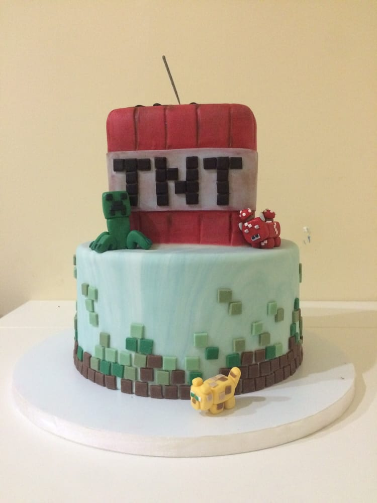 Minecraft Cake For 8th Birthday Party Yelp