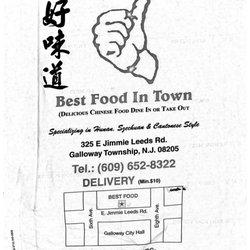 Best Food In Town Menu Galloway