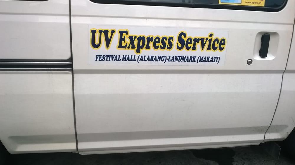 UV Express Las Pinas - Public Transportation - Alabang Zapote Road