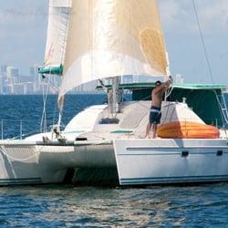 Biscayne Bay Sailing Catamaran Sol Y Mar Boat Charters Key