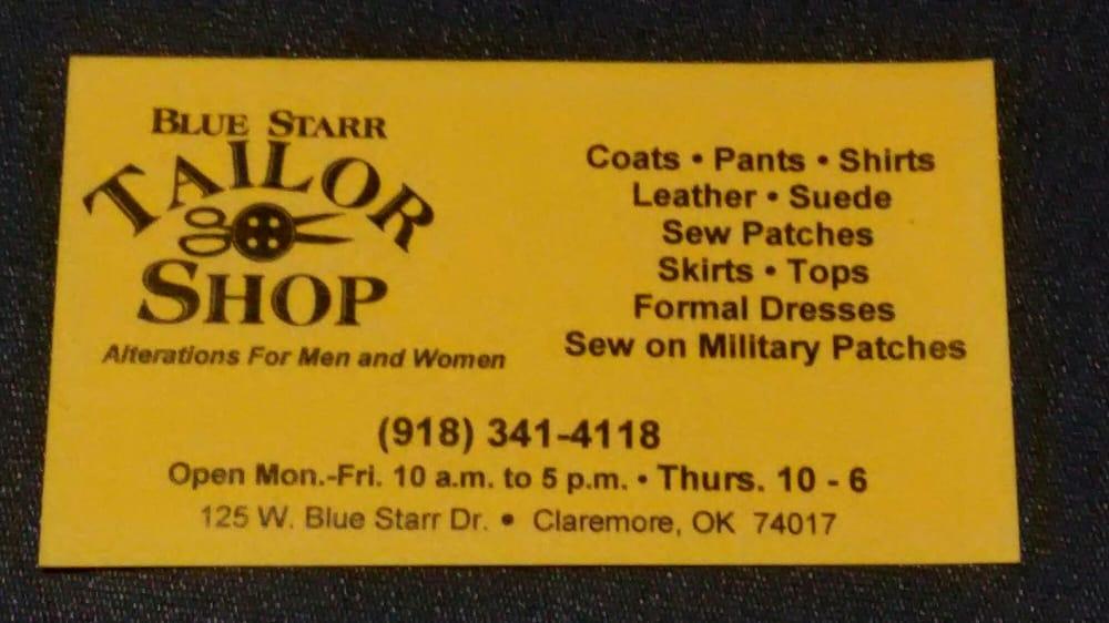 Blue Starr Tailor Shop: 125 W Blue Starr Dr, Claremore, OK