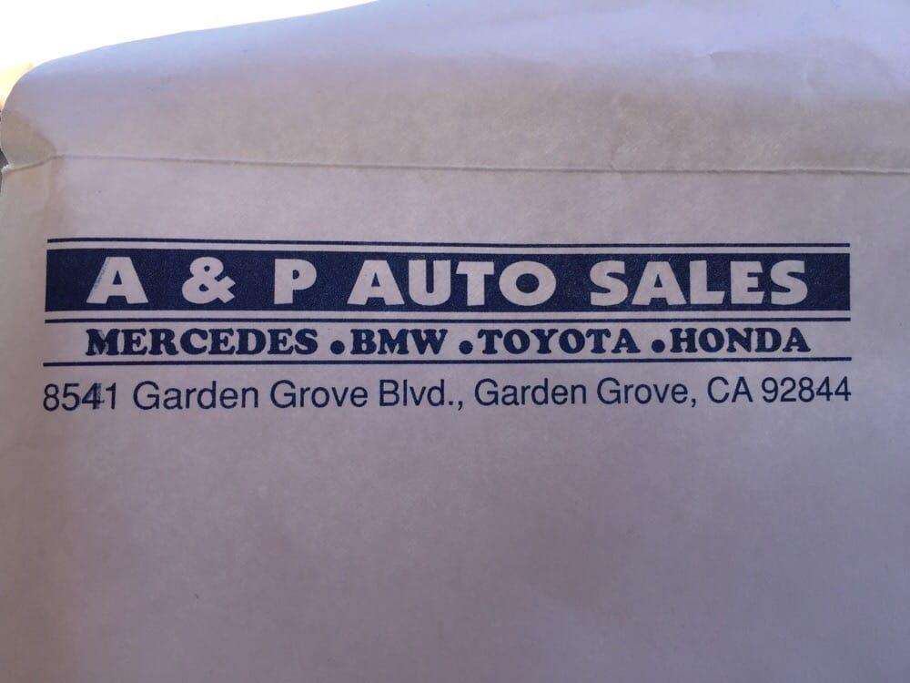 A P Auto Sales Car Dealers 8541 Garden Grove Blvd