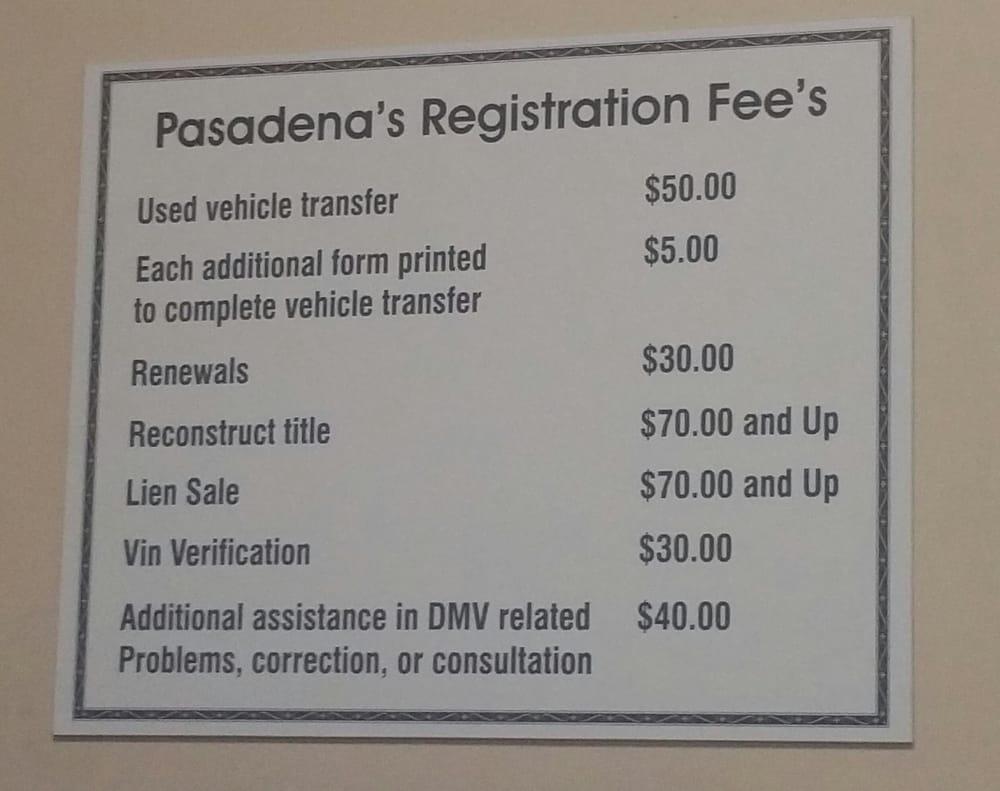 Pasadena Motor Vehicle Registration & Transfer Service: 2361 E Foothill Blvd, Pasadena, CA