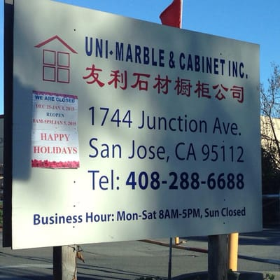 Uni Marble & Granite 1744 Junction Ave San Jose, CA Building ...