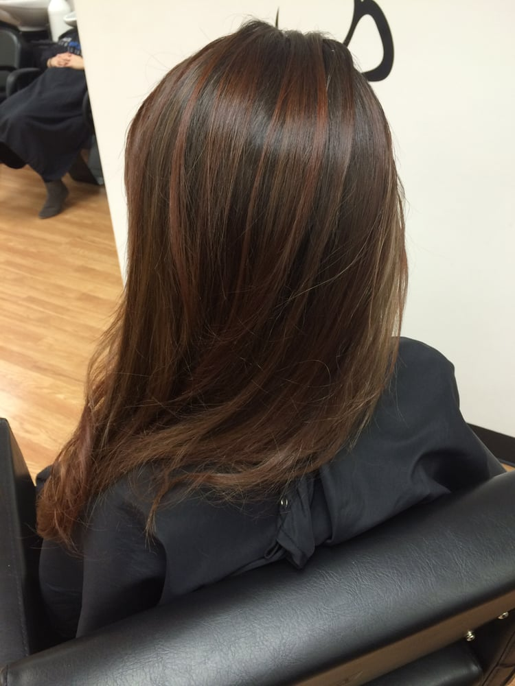 Red balayage trim with elena absolutely loved it will for Salon haute coiffure paris