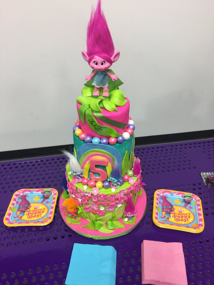 Tier Troll cake design Kids birthday party celebration Yelp