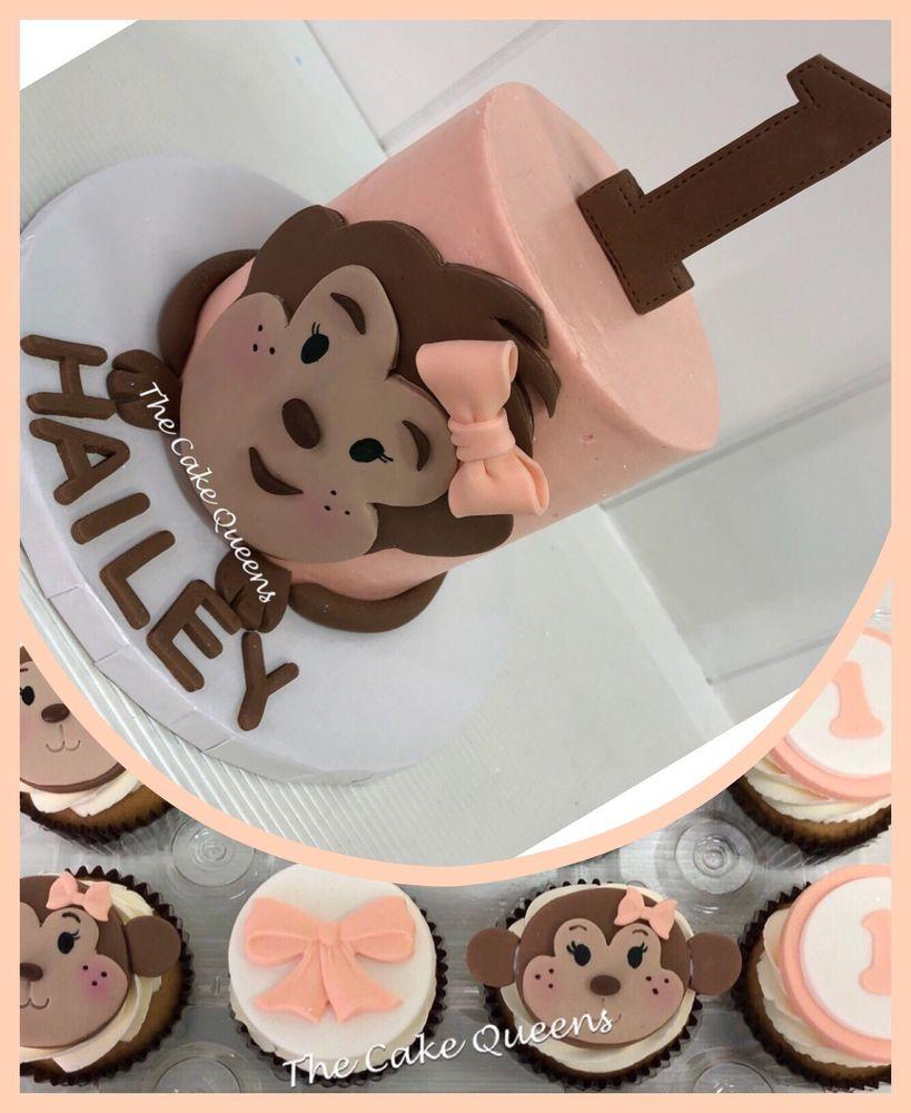 Monkey 1st Birthday Cake Cupcakes Yelp