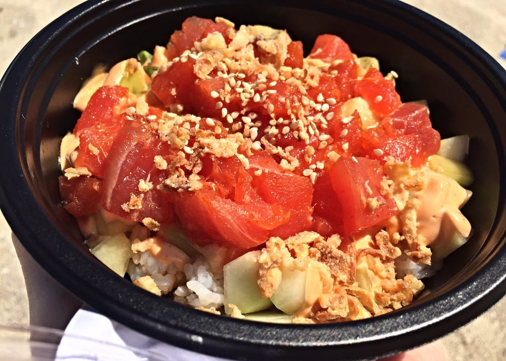 Spicy Tuna Bowl with White Rice! - Yelp