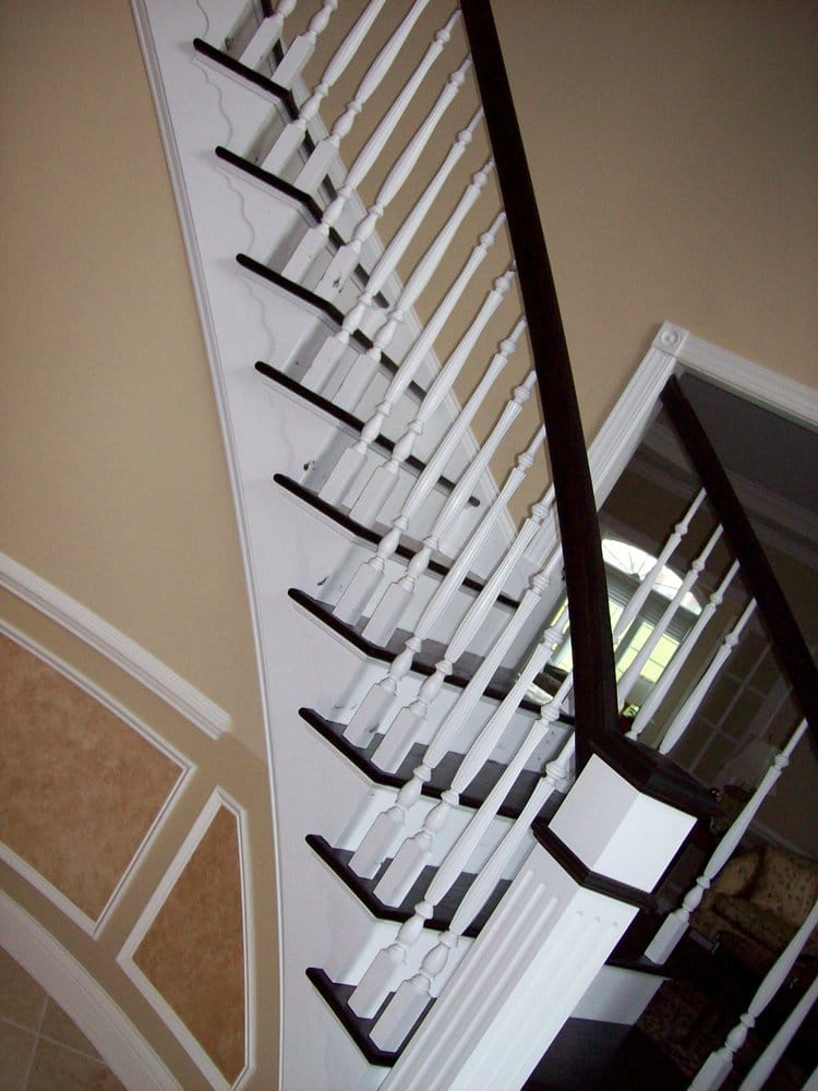Arts Amp Crafts Railing System With Box Newel And White