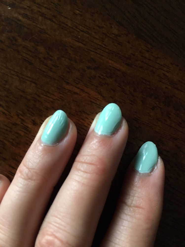 patchy clear coat and rough edges at the cuticles and the wrinkles ...