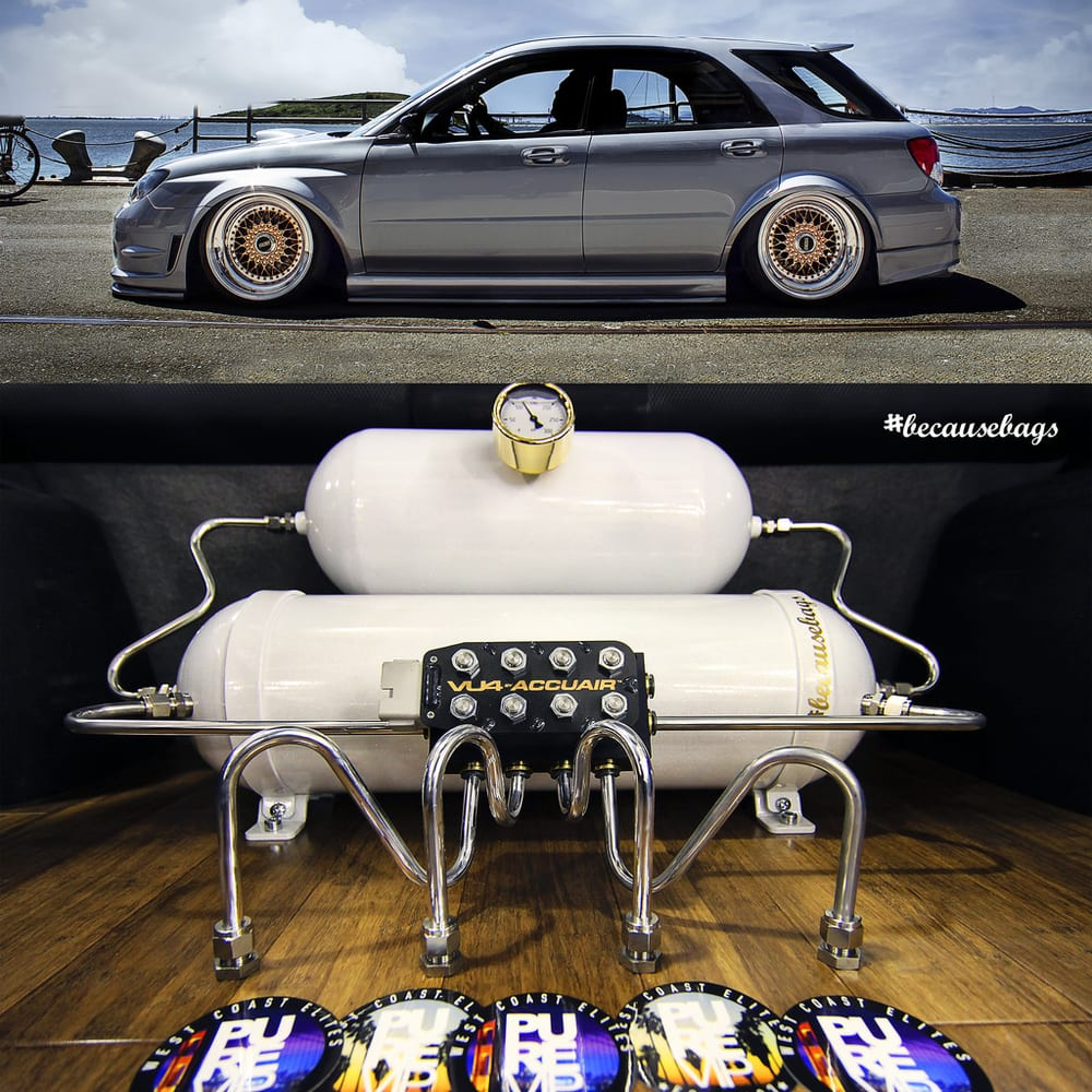Subaru San Jose >> Ronald's Subaru wagon we put on air suspension and did a custom hardline trunk setup. - Yelp