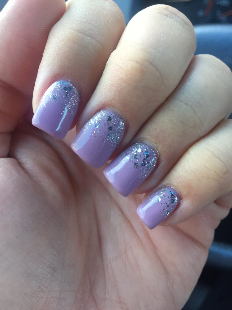 Acrylic fill, gel mani and faded glitter by Lee (female)! My first ...