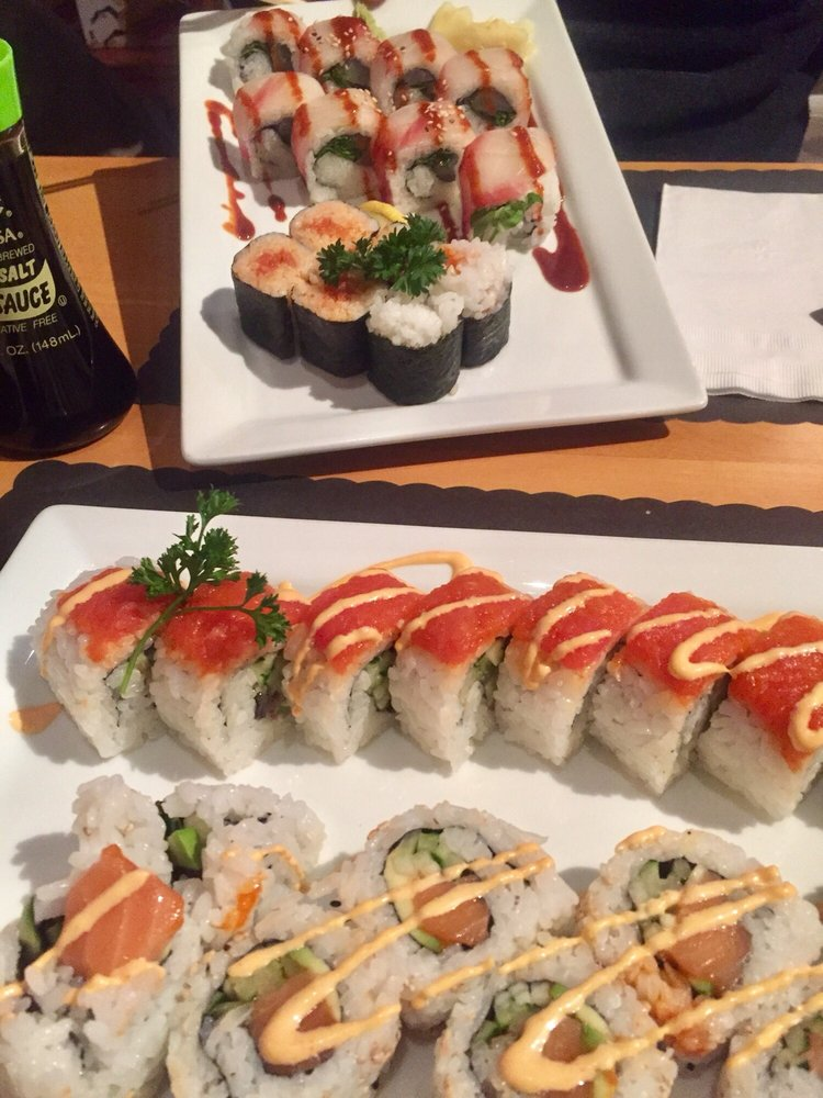 In Order Front To Back Spicy Salmon Red Dragon Spicy Tuna Hot